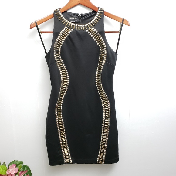 bebe Dresses & Skirts - Bebe Black Sleeveless Dress Sz M